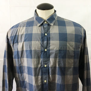 P11 J Crew Buffalo Plaid Button Front Shirt